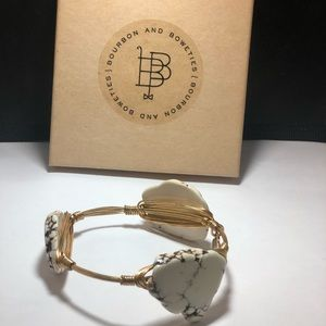 Bourbon and Boweties marbled stone bangle